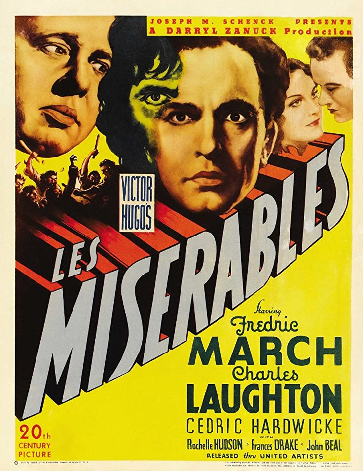 Charles Laughton, Rochelle Hudson, and Fredric March in Les Misérables (1935)