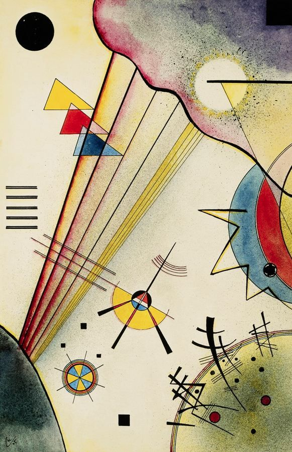 "Wassily Kandinsky - ""Distinct Connection"", 1925 abstract location unknown"