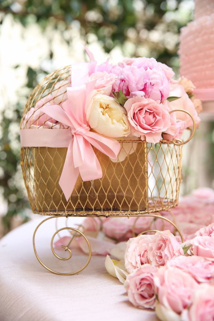 Perfect Pink + Gold Baby Shower Decor...Dear Milau2026 {A Pretty