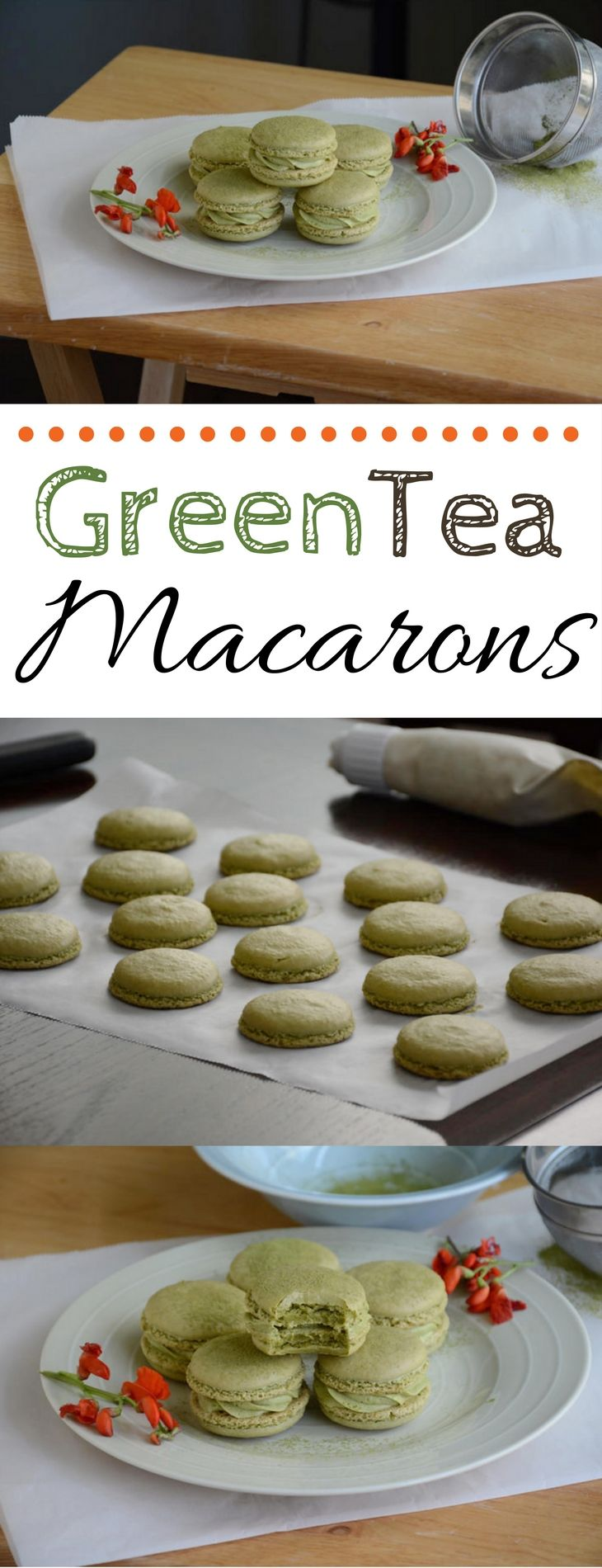 How to make green tea macarons with green tea buttercream frosting!
