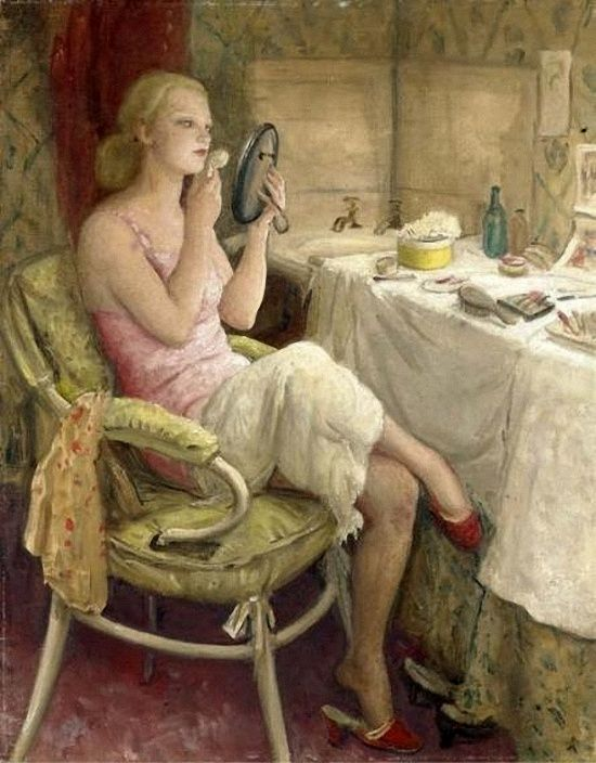 In the Dressing room  by Knight, Laura (1877-1970)