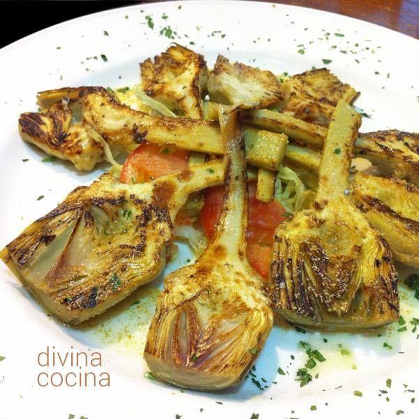 Alcachofa a la plancha < Divina Cocina