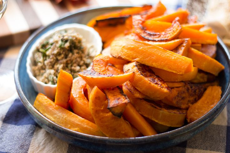 Caramelized Butternut Squash Wedges With A Sage Hazelnut Pesto Recipe ...