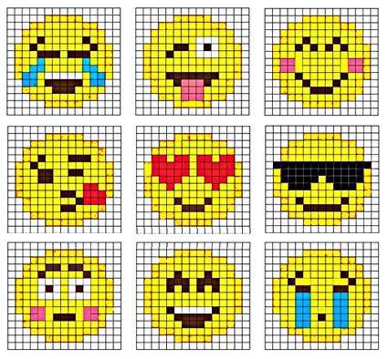 HAMA, Bügelperlen, Perler Beads; Emojis