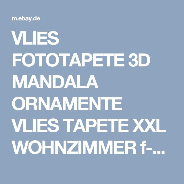 Details Zu VLIES FOTOTAPETE 3D MANDALA ORNAMENTE TAPETE XXL WOHNZIMMER F A 0583