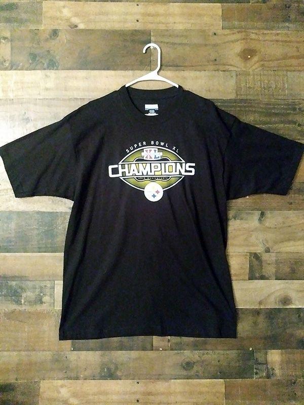 da96814d9 Authentic Reebok NFL PITTSBURGH STEELERS Super Bowl XL Champions Shirt