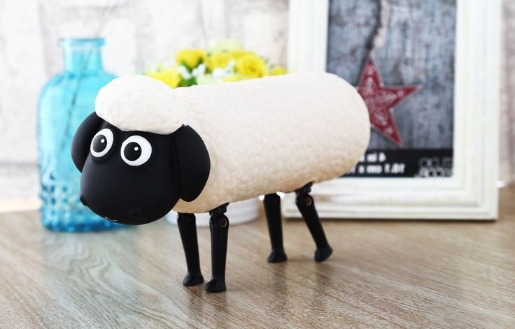 Water Drinking Bottle Cup Non Toxic Material and Odorless Sheep Shape White #unbranded