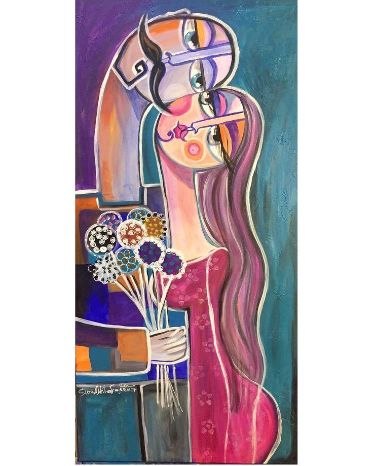 #اللقاء     The meeting   #mixedmedia  Size 100*50cm #artwork #meeting #iraqiart #iraqiartist #fineart #fineartist #painting #gallery #love #uk #usa #uae #jordan #saudiarabia #doha #bahrain #london #flowers #سرى_الخفاجي #لوحات#محبة#تفاؤل #حب#ورد #تشكيلي #رسم #لوحات