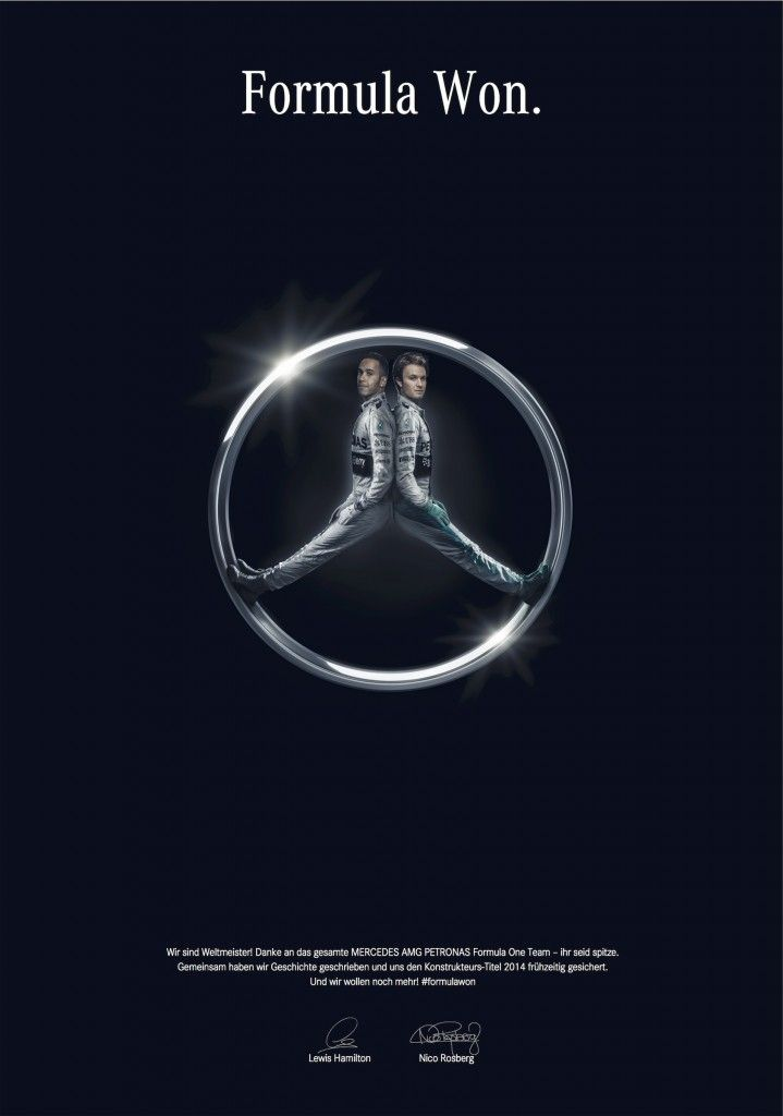 Mercedes-Benz: Formula Won | http://www.gutewerbung.net/mercedes-benz-formula-won/ #Advertising