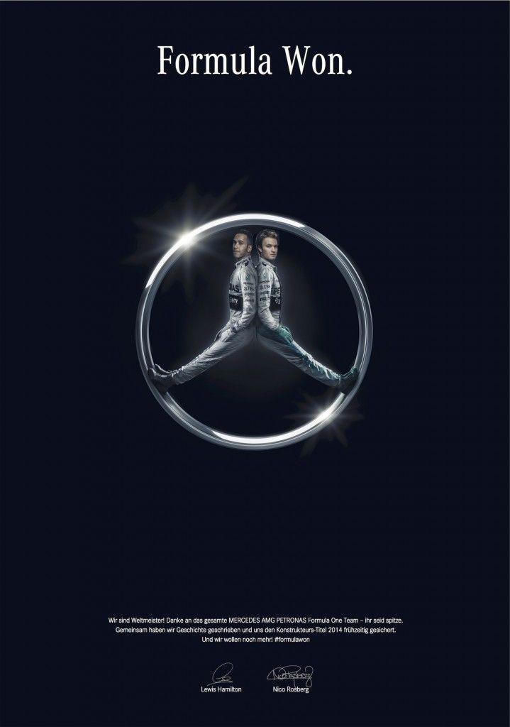 Mercedes-Benz: Formula Won | http://www.gutewerbung.net/mercedes-benz-formula-won/ #Advertising