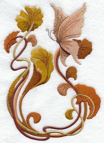 Embroidery:  Art Nouveau design  That's my style, too. Beautiful!