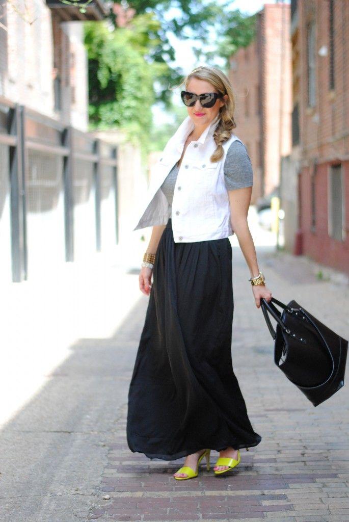 157 best 2dayslook - Black Skirts images on Pinterest | Black maxi ...