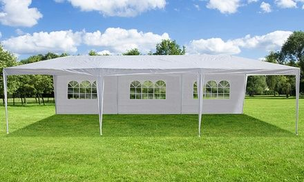 Outdoor canopy tent can serve a wide variety of purposes ranging from weddings and family reunions to work events and barbecues