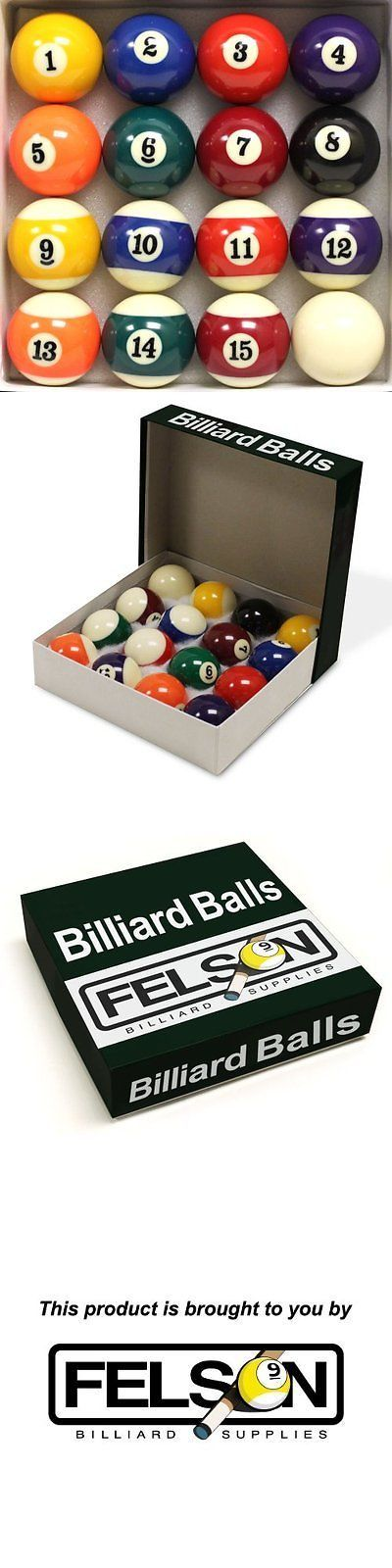 Complete Ball Sets 75193: Pool Table Billiard Ball Set By Felson Billiard Supply -> BUY IT NOW ONLY: $34.95 on eBay!