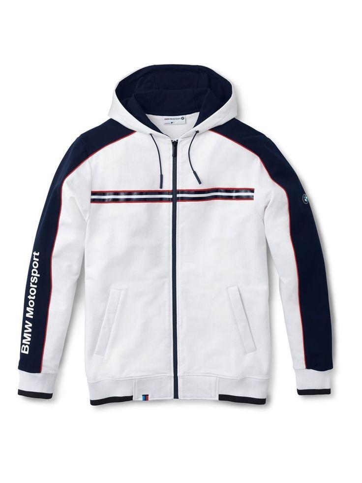bmw men 39 s x large white hooded motorsport sweat jacket. Black Bedroom Furniture Sets. Home Design Ideas
