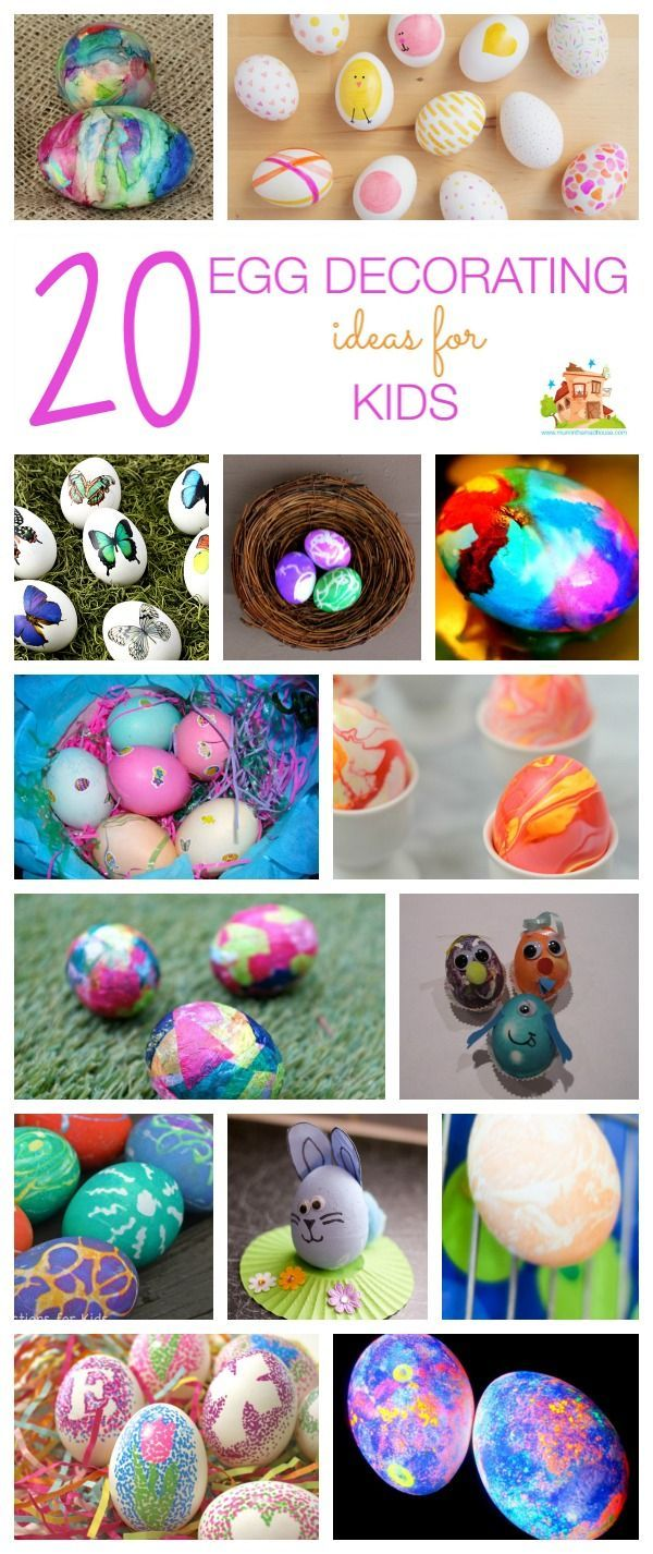 20 simple egg decorating ideas for kids