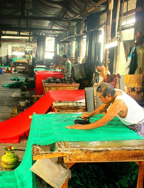 Batik printing process