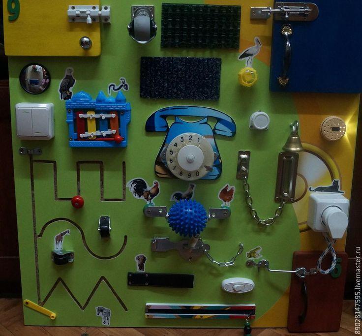 Купить РАЗВИВАЮЩАЯ ДОСКА - разноцветный, бизиборд, развивающая игрушка, развитие мелкой моторики, Монтессори