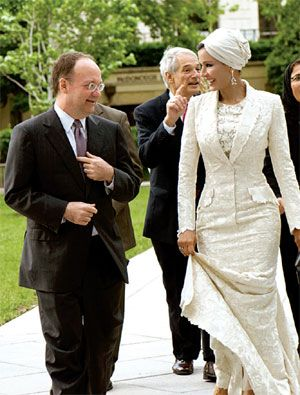 Sheikha is the picture of modesty AND haute couture. #YouGoGirl #PradaorNada
