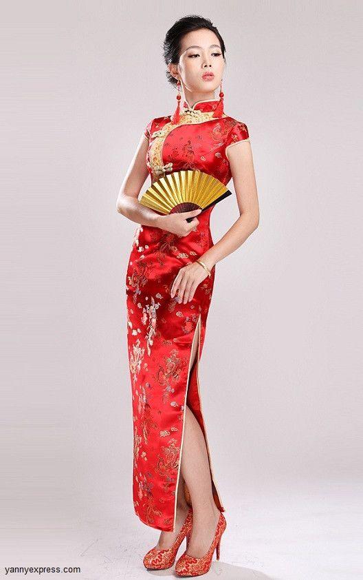 Chinese long dress qi pao origin