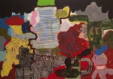 "Saatchi Art Artist Øyvind Suul; Painting, ""Dark matter"" #art"