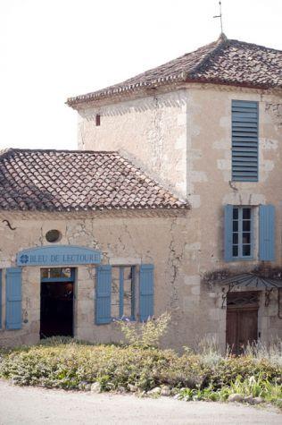 Woad painted shutters at Bleu de Lectoure, France