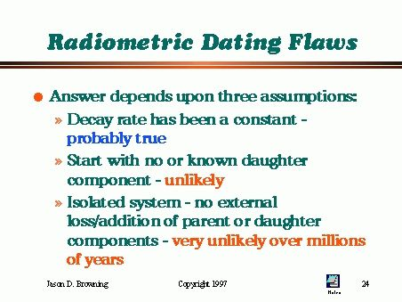 why is radiometric dating inaccurate