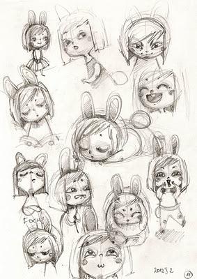 Bunny me sketches by Aleksandra Chabros aka Adelaida
