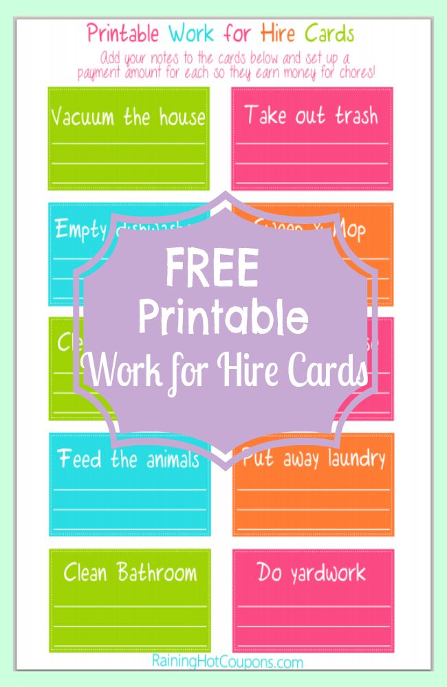 Best 25+ Free printable chore charts ideas only on ...