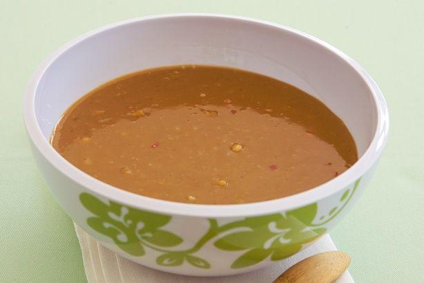 Satay sauce - I used light coconut milk instead of coconut cream and ...
