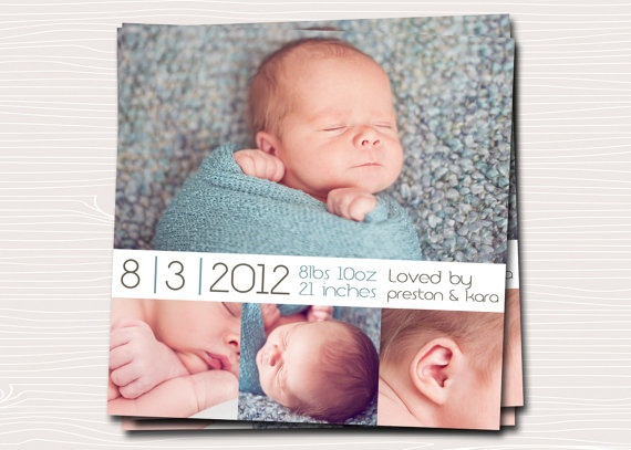 Birth announcement--would want the name on it though.