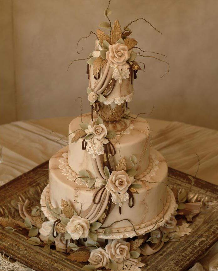 vintage wedding cake, Julia M Usher