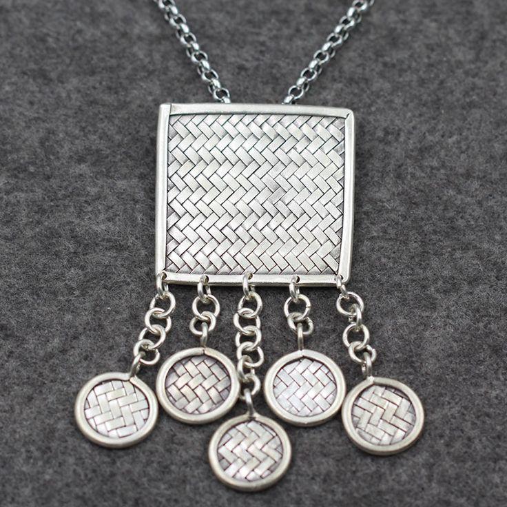 Серебряный народном стиле тканые кисточкой свитер цепи чиангмай таиланд оригинальный дизайн руководство серебряный оптовая продажа
