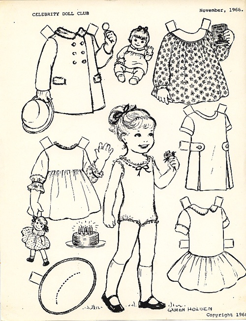 more black and white for our gift book of paper dolls to color - Paper Doll Clothes Coloring Pages