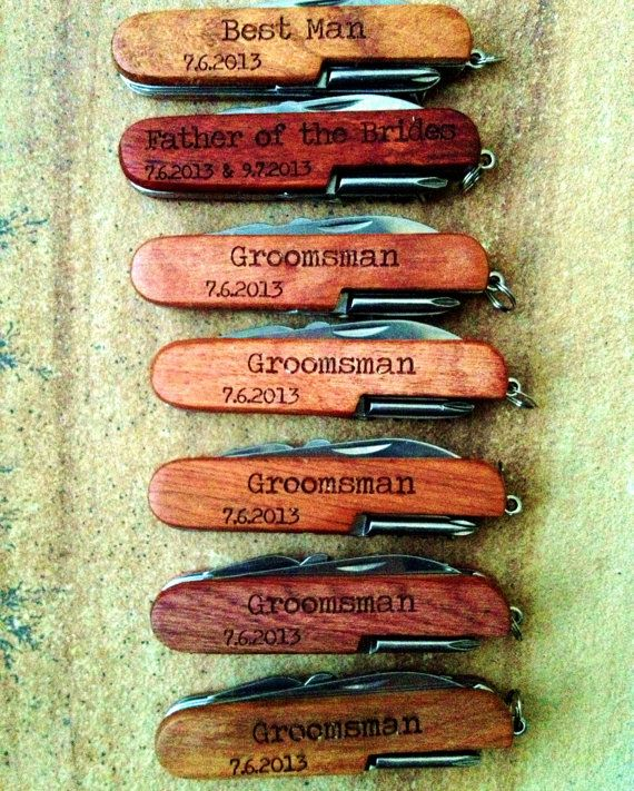 Vintage Grooms | Love these Personalized Pocket Knife Custom Engraved.  Great Groomsmen Gifts