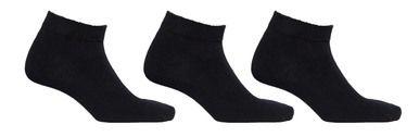 Mens Black Ankle Socks 3 Pack Diabetic Socks