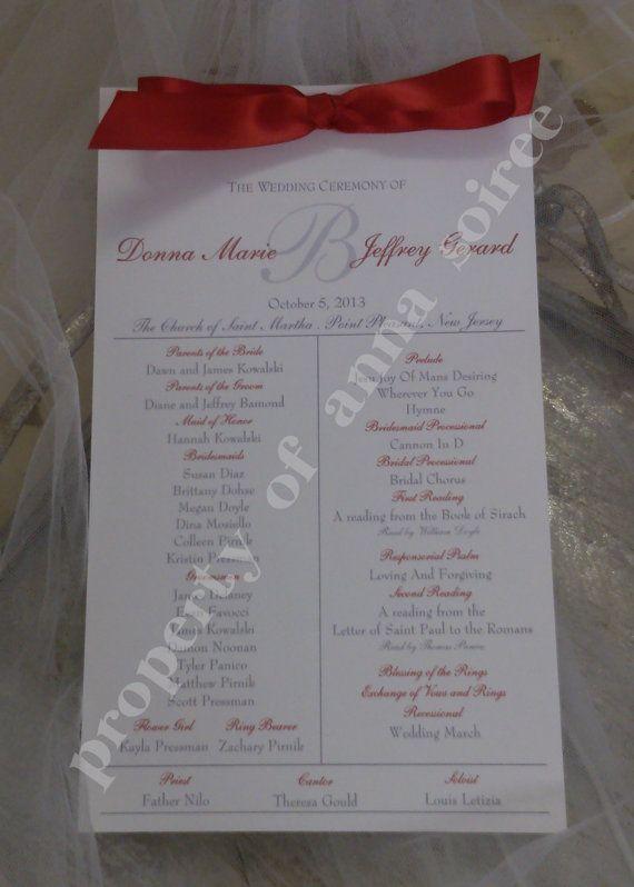 Winter Wedding Ceremony Programs with Ribbon by KnotJustWeddings, $1.85