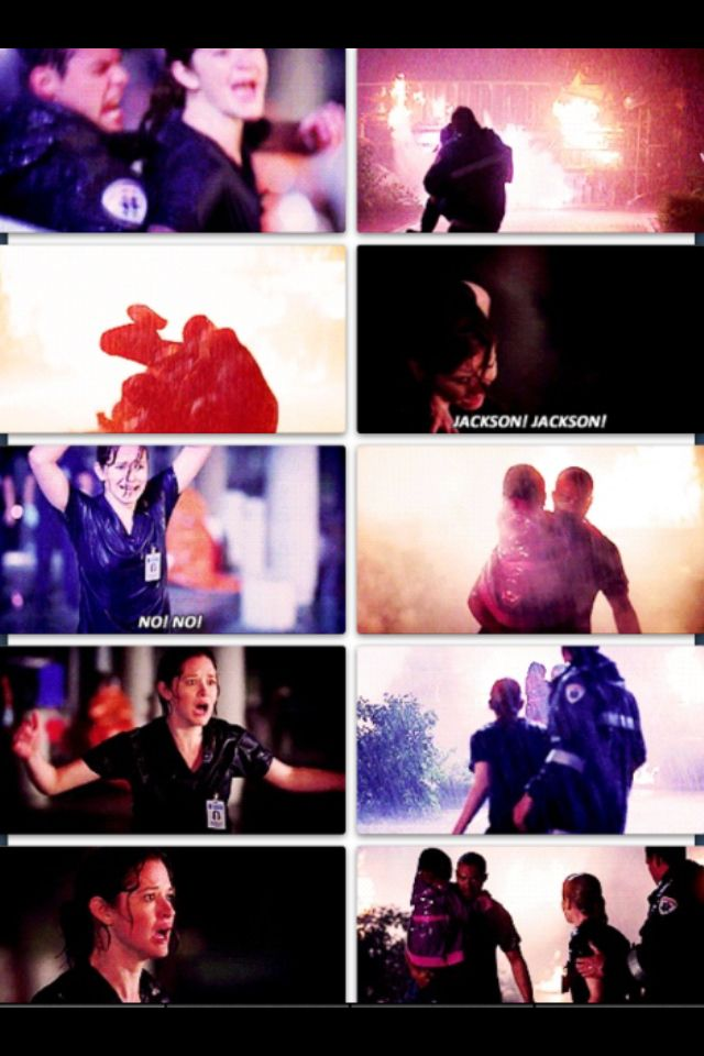 April and Jackson have become one of my favorite couples... This scene had me screaming and crying right along with April, and then jumping up and down and smiling when Jackson walked out of the smoke!