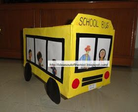 Ideas out of the mist: Wheels on the bus prop / School bus prop - for Bangladesh school supply drive