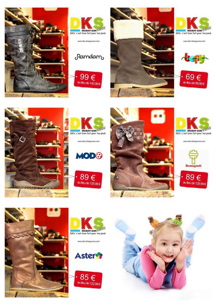 Arrivage de bottes enfant fille. du 24 au 36 - à partir de 69 € - DKS Dégriff Kids Shoes Chaussures dégriffées pour enfant à Grenoble