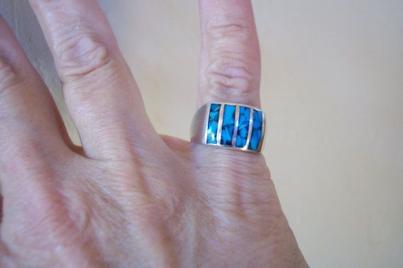 Ring Southwestern Native American by colorsofthesouthwest on Etsy, $50.00