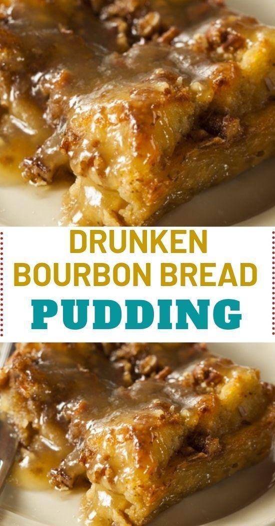 DRUNKEN BOURBON BREAD PUDDING – NEW ORLEAN'S BREAD PUDDING! #breadpudding