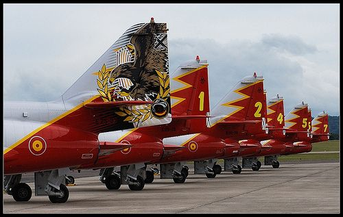 "Casa C101s of Spanish Air Force display team ""Patrulla Aguila"""