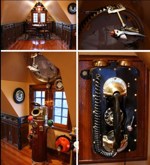 Steampunk decor home pinterest Steampunk home ideas