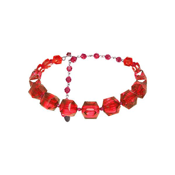 Single Row Lucite Choker ($70) ❤ liked on Polyvore