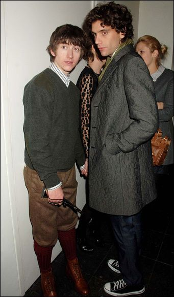 Mika w/ Alex Turner of Arctic Monkeys- after-party- Brit awards Feb. 20, 2008