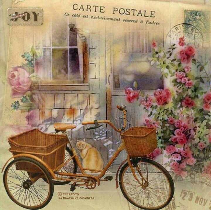 Винтажные картинки велосипеда