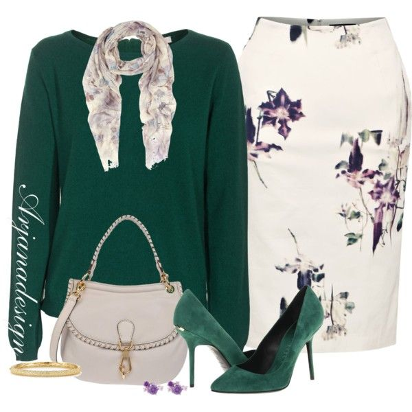 French Connection Pencil Skirt, created by arjanadesign on Polyvore