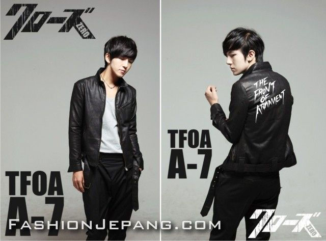 *Jaket Crows Zero - TFOA The Front Of Armament A-7 *Material : synthetic leather best quality