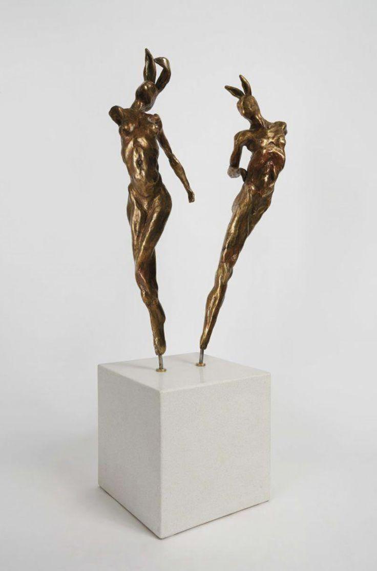 Gerhard Van Eck - Awaken - Rabbit Dance (Set of 2) http://www.candicebermangallery.co.za/artists/gerhard-van-eck/coming-of-age,-series-ii-pelt-1910-detail